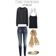 Daily Wardrobe by charlotte-mcfarlane on Polyvore featuring Uniqlo, H&M, Novo, Mondevio, women's clothing, women's fashion, women, female, woman and misses