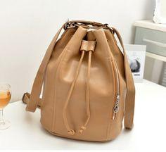 stacy bag hot sale popular women leather handbag female casual backpack ladies bucket bag travel bag shoulder bag $11.00