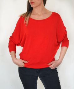 SOLD OUT Designed in 2013 Made to Order Womens blouse  oversized  long sleeves round neck by holacrystal, $51.00  #etsy #long sleeved #handmade #tshirt #byolinda #holacrystal #crystal #customizable #plussizes