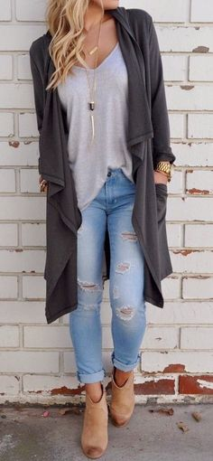 Only $28! Pavacat Fall Outfit Gray Cardigans Coat. Fall fashion outfit you much have. 2017 new collection warm cardigan sweater fashion trend. fashion tips fashion ideas