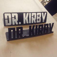 Custom Desk Plate  Name Plate  Teacher Doctor Office by WinterFab