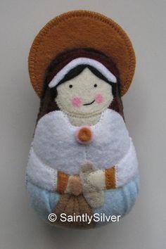 Saint Zita Felt Saint Softie by SaintlySilver on Etsy