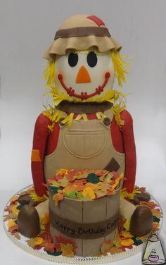 Scarecrow Fondant Birthday Cake