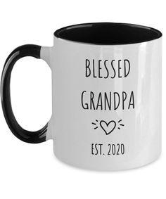 Blessed Grandpa Pregnancy Reveal Grandchild Baby Birth Announcement Mug Gift