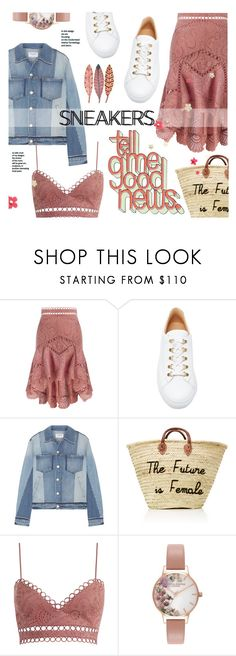 """""""Sneakers - you way out"""" by edita1 ❤ liked on Polyvore featuring Zimmermann, Koio, Frame and Olivia Burton"""