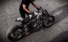 "Beautiful and extraordinary custom Kawasaki Eliminator Cafe Racer built by Motokraft from India as a tribute to ""The Doctor"", mr. Kawasaki Cafe Racer, Cb750 Cafe Racer, Cafe Racer Motorcycle, Cafe Racers, Modern Cafe Racer, Custom Cafe Racer, Cafe Racer Build, Vintage Motorcycles, Custom Motorcycles"
