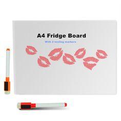 A4 dry erase flessibile lavagna magnetica/tabellone messaggi/memo pad/dialog magnete magnete box/bordo bianco magnetico con 2 pennarelli a secco