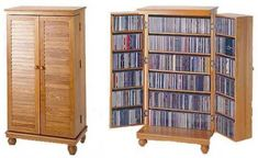 Vaughan bassett armoire entertainment center mission style beautiful corner cabinet of c Dvd Cabinets, Storage Cabinets, Tall Cabinet Storage, Cd Storage, Media Storage, Storage Ideas, Cabinet Decor, Cabinet Design, Home Furniture