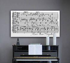 Anniversary Gift, 11th Anniversary Gift, Sheet Music Wall Art, Framed Song Lyrics, 1st Anniversary Gift