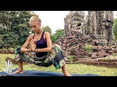 (1) Yoga For Tight Hips & Flexibility ♥ Mind- Body Release | Khmer Temple Ruins - YouTube