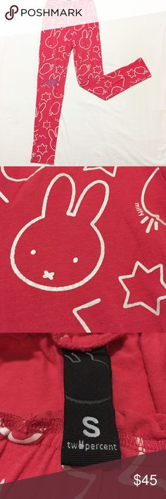Miffy Pink leggings Miffy pink leggings, try it with simple tees and shoes, feel energy, attract so much attentions when I was on the street miffy Pants Leggings