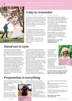 ~ Spring weddings ~ Top tips to tie the knot during the season of new life #locallife #Petersfield #Hampshire #spring #weddings #ideas #inspiration