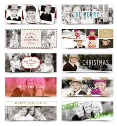 Free Photo Christmas Cards. Exclusive Photoshop Template designs by The Album Cafe for I Heart Faces.