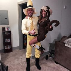 """Shawn Booth & Kaitlyn Bristowe from Stars Celebrate Halloween 2015  """"When you're Curious George for Halloween, you ask your spray tan lady to give you the Nutella glow #HappyHalloween #Boothstowes,"""" The Bachelorette starswrote on Instagram."""
