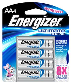 Energizer Ultimate Lithium batteries not only last up to 8X longer but weight almost nothing compared to standard batteries.  Let's face it you won't be able to recharge the batteries in your devices nearly as often as you would like.