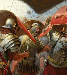 Lunari Legionaires under attack Rome History, Ancient History, Military Art, Military History, Imperial Legion, Rome Antique, Roman Legion, Empire Romain, Roman Soldiers