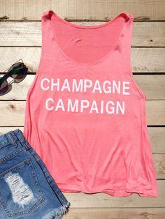 Champagne Campaign Tank Top