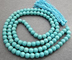 10mm Blue Howlite Turquoise Beads Tibet Buddhist by 8giftshop, $12.00