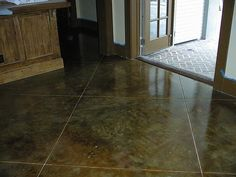 1000 images about stained concrete ideas on pinterest for Acid wash concrete driveway