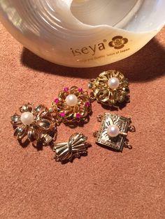 14KGoldClasps for Pearl Necklace.  #pearl  www.iseya-japan.com/en