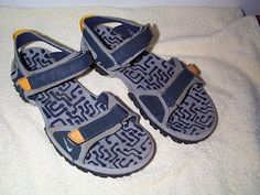 Guys And Sandals: Many different mens Nike sandals models from the 90's and the 00's