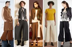 Wide legged crop pants at Sally Lapointe, Temperley London, Lanvin, M. Martin and Marrissa WebbThe pant silhouette of the season in inarguably wide-legged and usually relaxed in fit. Cropped versions were especially popular..