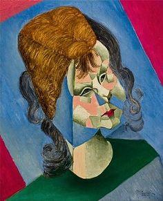 Jean Metzinger - Conservapedia Portrait cubiste d'Odette, fille de l'artiste.