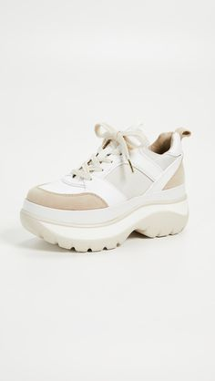 MICHAEL Michael Kors Felicia Trainer Sneakers Felicia, Michael Kors Shoes, Suede Leather, Trainers, Joggers, Baby Shoes, Product Launch, Lace Up, Flats