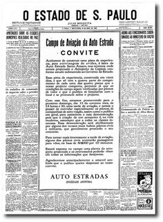O primeiro dia do aeroporto de Congonhas - noticias - O Estado de S. Paulo - Acervo Estadão