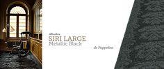 Alfombra Siri Large Metallic Black de Pappelina. #alfombra #pappelina #rugs #carpet #alfombrasPappelina