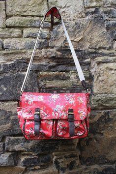 Kath Kidston style wipe clean oil cloth everyday bag.