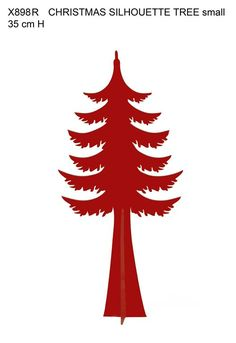 Red Small Silhouette Christmas Tree