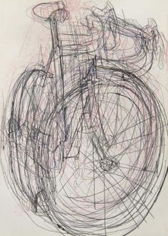Andy's Bike - Blind Drawings 4 | Bicycle Paintings, Prints and Custom Bike Art Portraits