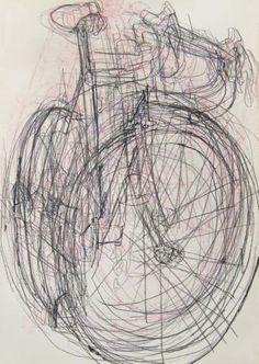Andy's Bike - Blind Drawings 4 | Bicycle Paintings, Prints and Custom Bike Art Portraits