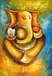 Buy Ganesha Art 2 by Community Artists Group@ Rs. - Shop Art Paintings online in India. Ganesha Drawing, Lord Ganesha Paintings, Ganesha Art, Krishna Painting, Sri Ganesh, Religious Paintings, Indian Art Paintings, Acrylic Paintings, Acrylic Canvas