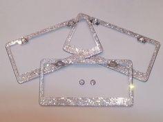 Sparkle License Plate Frame Handmade with Swarovski Crystals Avaliable Now !