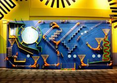 Ball Maze inspiration: interactive wall-mounted exhibit at Habitot Children's Museum Play Spaces, Kid Spaces, Design D'espace Public, Maker Fun Factory Vbs, Kids Cafe, Interactive Walls, Interactive Activities, Indoor Playground, Kids Church