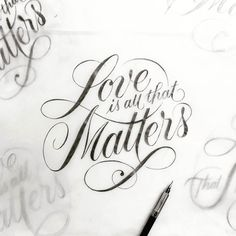 Love is all that matters . From a beautiful lettering by @tyrsamisu __ Featured by @thedailytype #thedailytype Learning stuffs via: www.learntype.today __ by thedailytype