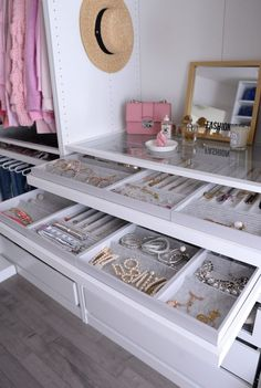 """Today I'm taking you inside my brand-new IKEA PAX Wardrobe Closet. If you haven't read my """"Current IKEA PAX Wardrobe Walk-In Closet"""" blog"""