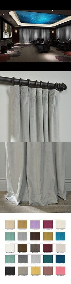 Saaria Velvet Pinch Pleated Curtain Home Theater Event Drape 8/'W x 8/'H Green-86