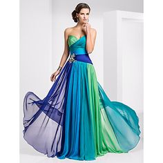 TS+Couture®+Prom+/+Formal+Evening+/+Military+Ball+Dress+-+Color+Gradient+Plus+Size+/+Petite+A-line+Strapless+/+Sweetheart+Floor-length+Chiffon+–+AUD+$+245.37