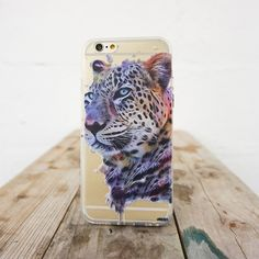 """Clear TPU Case Cover for iPhone 6Plus (5.5"""") Dripping Leopard – Milkyway"""