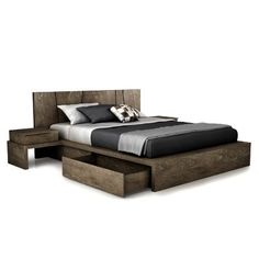 Buy the SILK Storage Bedand Queen by Huppe and the best in modern furniture at YLiving - plus Free Shipping and No Sales Tax.