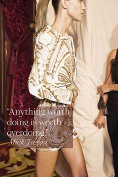 balmain, fashion quotes, mick jagger, famous quotes, inspiration quotes, inspirational quotes