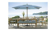 Regatta Extension Dining Table   Crate and Barrel $2600