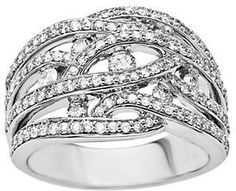 Lord & Taylor 14 Kt. White Gold Diamond Ring on shopstyle.com