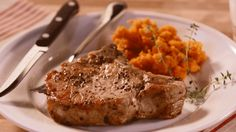 Spend just 60 seconds to learn how to make juicy pork chops. Watch our quick video for our three-step secret!/