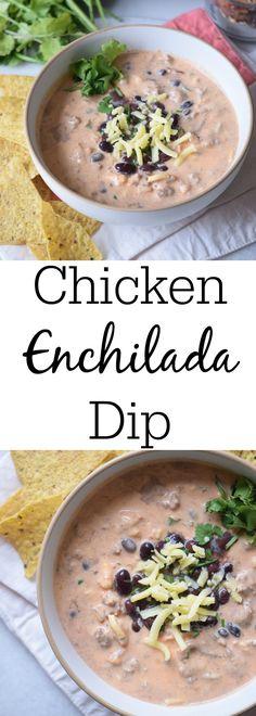 Crockpot chicken enchilada dip