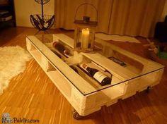 A simplicidade de uma palete de madeira na sala de estarMóveis de Paletes
