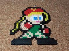 Cammy  Fighting Stance Street Fighter perler beads by DCBPerlerSprites